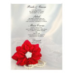 Poinsettia and Pearls Winter Wedding Menu Full Color Flyer