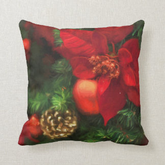 Poinsettia Beauty Throw Pillow