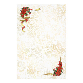 Poinsettia Bells Stationery
