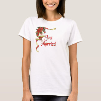 Poinsettia Bells Wedding T-Shirt