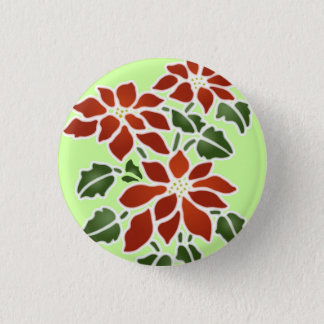 Poinsettia Button