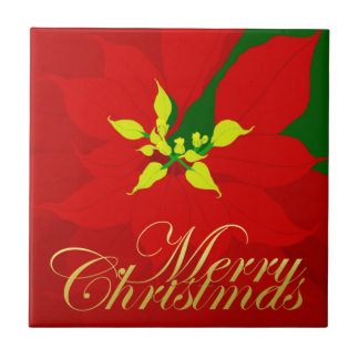 Poinsettia Ceramic Tile