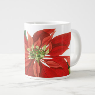 Poinsettia Christmas Large Coffee Mug