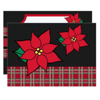 Poinsettia Christmas Party Holiday Invitations