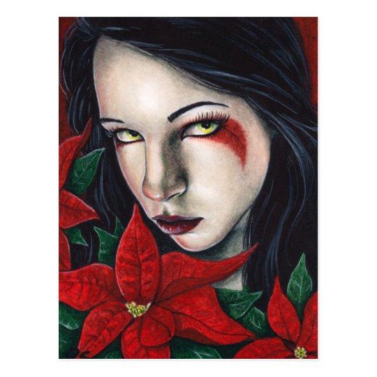 Poinsettia Christmas Postcard