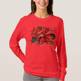 Poinsettia Christmas Shirt
