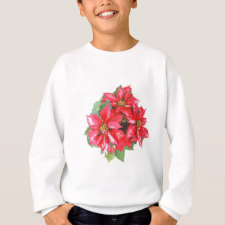 Poinsettia Christmas Star transparent PNG Sweatshirt