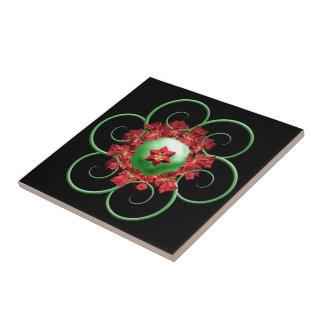 Poinsettia Christmas Tile