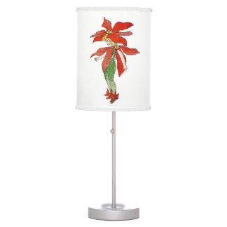 Poinsettia Cute Flower Child Floral Nursery Lamp