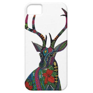 poinsettia deer white iPhone 5 covers