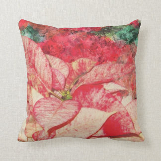 poinsettia / floral pillow