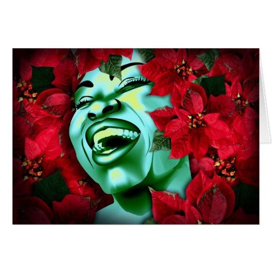 Poinsettia Heaven Card