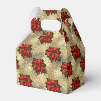 Poinsettia Holiday Favor Box