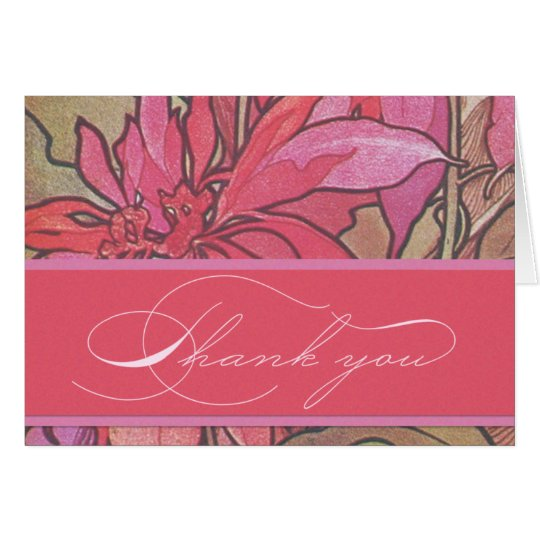 Poinsettia Holiday Wedding Thank You Note Cards