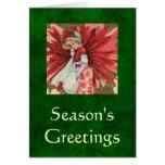 Poinsettia Lady card