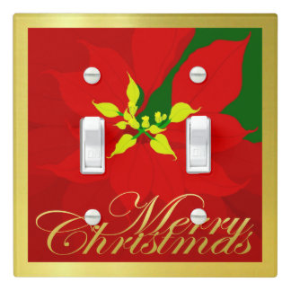 Poinsettia Light Switch Cover