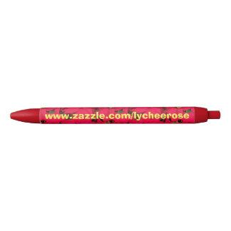 Poinsettia lycheerose pen