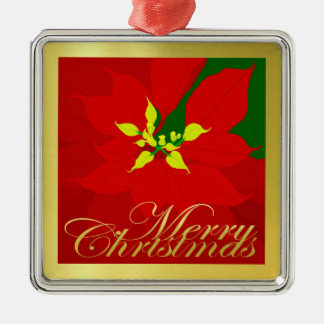 Poinsettia Metal Ornament