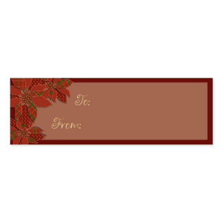Poinsettia Patchwork Business Card
