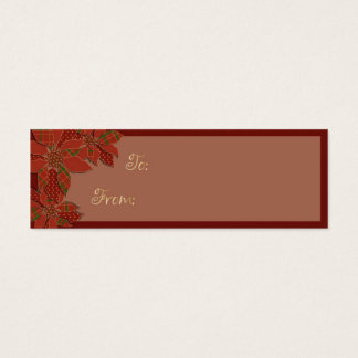Poinsettia Patchwork Mini Business Card