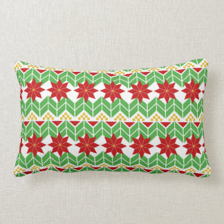 Poinsettia Pattern | Tacky Sweater | Retro Lumbar Pillow