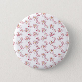 Poinsettia pattern - white 2 inch round button
