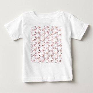 Poinsettia pattern - white baby T-Shirt