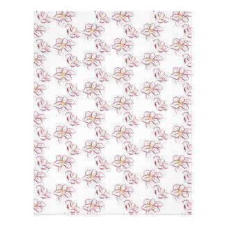 Poinsettia pattern - white letterhead