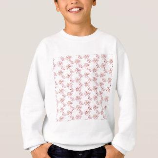 Poinsettia pattern - white sweatshirt