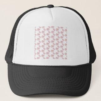 Poinsettia pattern - white trucker hat