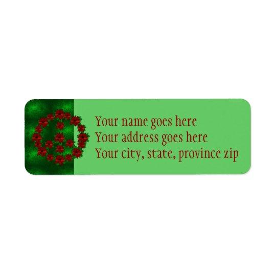 Poinsettia Peace Sign