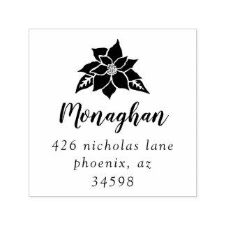 Poinsettia | Return Address Self-Inking Stamp
