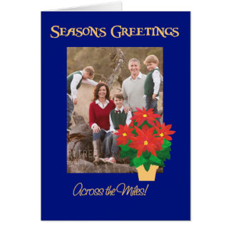 Poinsettia Season's Greetings Across the Miles Card