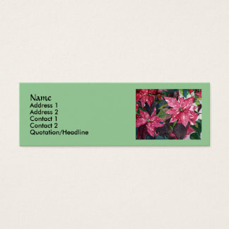 Poinsettia Slim Business Cards