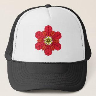 Poinsettia Snowflake Trucker Hat