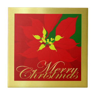 Poinsettia Tile