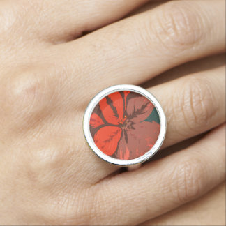 Poinsettia Traditional Design Ring