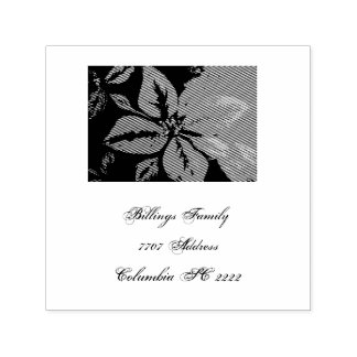 Poinsettia Traditional Design Self-inking Stamp