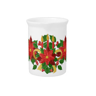 Poinsettia Trio Candle Pitcher