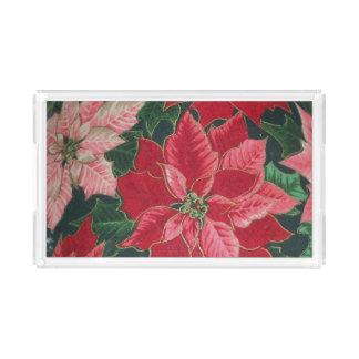 Poinsettia Vanity Tray