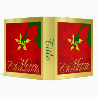 Poinsettia Vinyl Binder