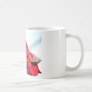Poinsettia with Candle Coffee Mug