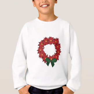 Poinsettia Wreath Sweatshirt