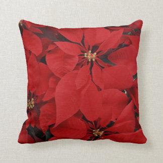 Poinsettias for Christmas Throw Pillow