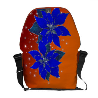 Poinsettias scintillating of Christmas Courier Bags