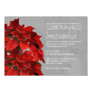 Poinsettias Wedding Invitations