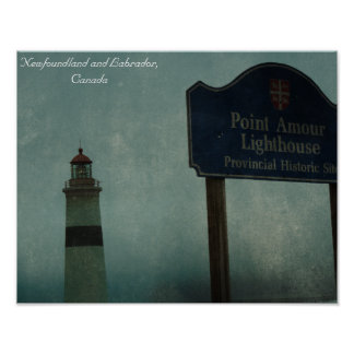 Point Amour Lighthouse, Newfoundland and Labrador Poster