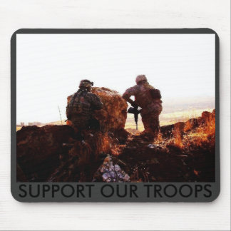 Point & Gun (4), SUPPORT OUR TROOPS Mouse Pad