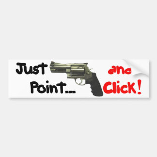 point and click bumper sticker