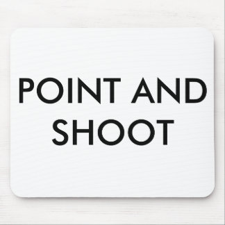 Point and shoot mousepad